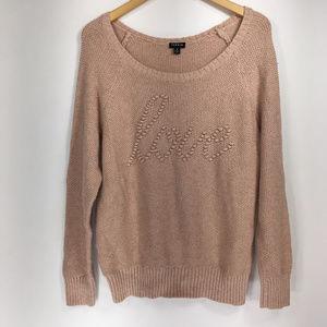 Torrid 2 Sweater Pullover Love Blush Pink Scoop